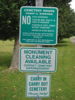 Morningside Cemetery: Carry In Carry Out